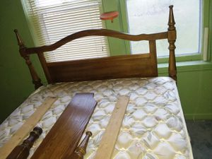 Fullsized wooden bed frame for Sale in Des Moines, IA