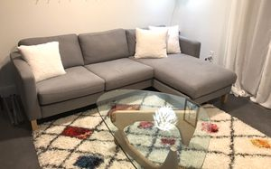 IKEA Karlstad sofa/couch with chaise for Sale in Mercer Island, WA