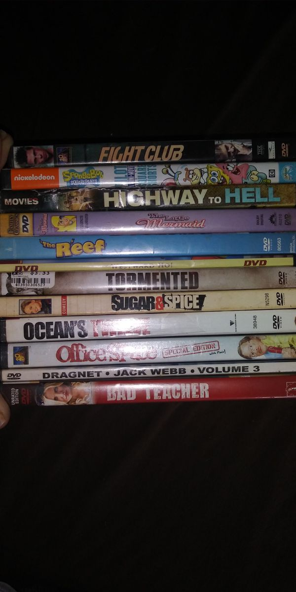 Dvds all for 5.00