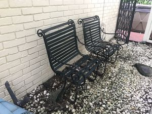 Old wrought iron outside rocker chairs for Sale in Land O Lakes, FL