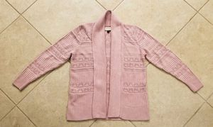 Women's Sonoma Open Front Cable Knit Cardigan Sweater Size XL Pink for Sale in Spring Hill, FL