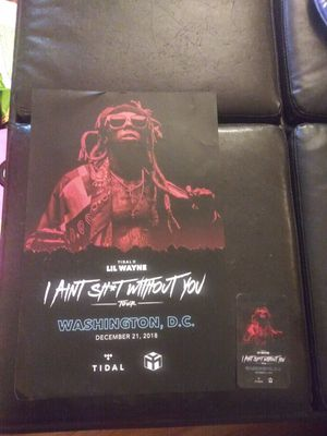 """Lil Wayne """"I Aint Without You"""" Tour Set for Sale in Gaithersburg, MD"""