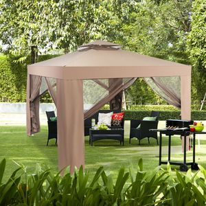 10 x10' Gazebo with Mesh Curtains Mosquito Netting Outdoor Patio Canopy Tent Steel Frame for Sale in Sacramento, CA