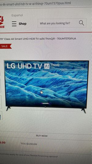 70 inch LG tv new in box for Sale in Young, AZ