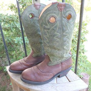 Rocky Western Waterproof Boots Brown Green- 11.5 W for Sale in Ellenton, FL