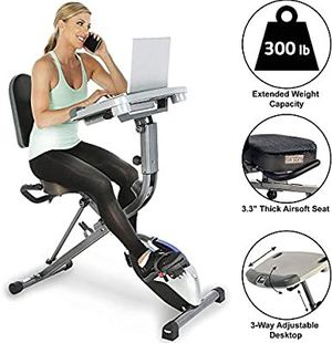 ExerWorK 1000 Fully Adjustable Desk Folding Exercise Bike with Pulse for Sale in Los Angeles, CA