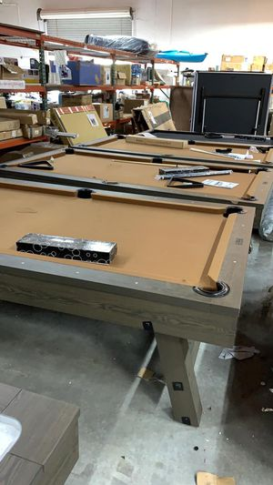 Barrington 8 Ft Pool Table shipping Torn fixable never been used for Sale in Meadows Place, TX