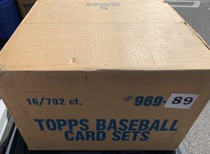 Sealed Case of 16 1989 Topps Baseball Card Sets for Sale in Placentia, CA