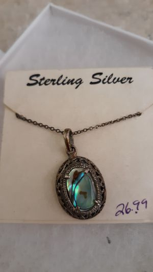 Sterling silver necklace for Sale in Bloomington, IL