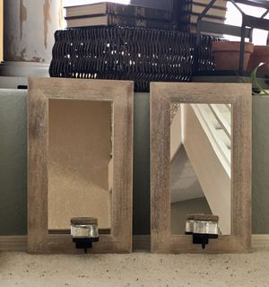 Pair of Mirrors with Candle Holders for Sale in Phoenix, AZ
