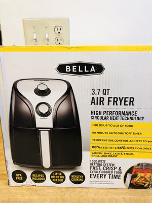 Brand new Bella air fryer 3.7 qt never been opened (pick up only) for Sale in Alexandria, VA