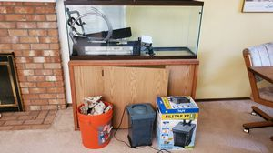 55 gal tall aquarium, stand, filter, accessories for Sale in Woodinville, WA