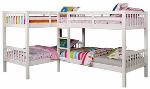White FINISH Quadruple Twin SIZE Bunk Bed for Sale in San Diego, CA