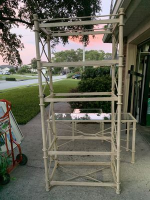 Shelving unit, end table and console table with mirror. for Sale in Sanford, FL