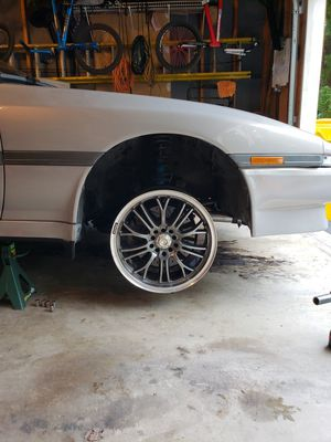 "Konig crosshairs 17"" 5x114.3 (only 3 rims) for Sale in Severn, MD"
