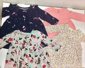 Lot of 4 baby girl long sleeve fall/winter dresses size 12M for Sale in Plymouth, MA