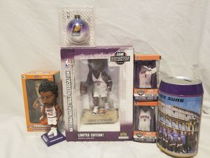 PHOENIX SUNS COLLECTION PACKAGE, BOBBLEHEADS, MINI LOCKERS, PUZZLE, AMARE STOUDEMIRE STATUE for Sale in Scottsdale, AZ