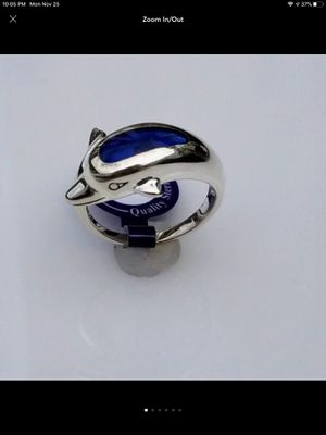 NWT Sterling Silver Dolphin Wrap Ring SIZE 7 With Paua Shell Inlay for Sale in Durbin, WV