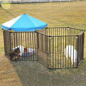 Heavy Duty Dog Playpen Dog Kennel, Pet Dog Exercise Playpen Foldable Dog Steel Crate Wire Metal Cage Dog Cage for Sale in Ontario, CA