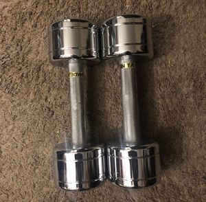 12lb Stainless Steel Dumbbells for Sale in Los Angeles, CA