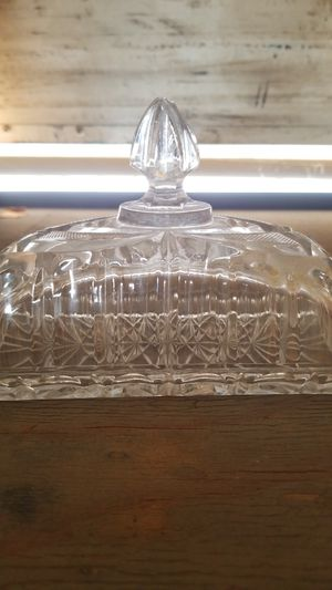Crystal butter dish with lid for Sale in Fremont, CA