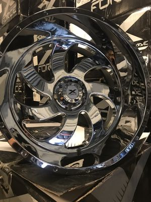 Set of 22x12 Chrome for JEEP WRANGLER (5x5-5x127) for Sale in Houston, TX
