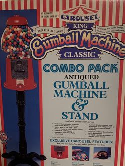 Gumball Machine and Stand Cast Metal with Glass Globe for Sale in Santee,  CA