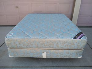 Queen Size Bed with Serta Mattress, Box Spring and Metal Frame Cama/Colchon for Sale in Patterson, CA