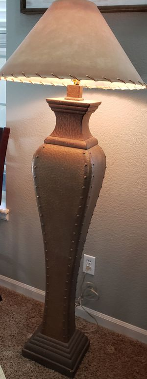 """FLOOR DECOR LAMP AND LAMP SHADE 64"""" height for Sale in Arvada, CO"""