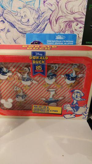 Donald duck 85 year disney pin set for Sale in Renton, WA