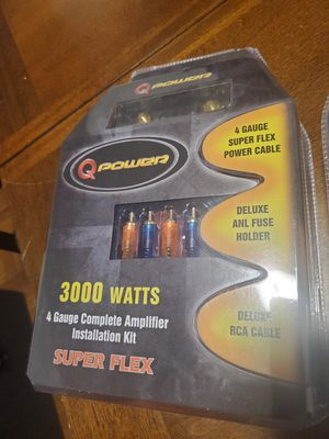 4 GAUGE AMP INSTALLATION KIT FOR CAR AUDIO AMPLIFIER for Sale in The Bronx, NY