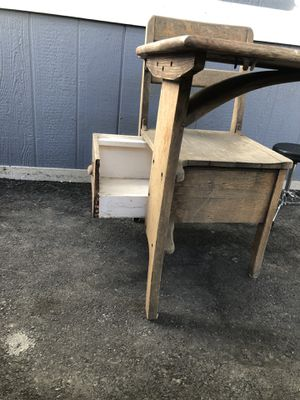 ANTIQUE LANGSLOW FOWLER CO ROCHESTER NY MOULTHROP ELEMENTARY SCHOOL DESK for Sale in Chula Vista, CA