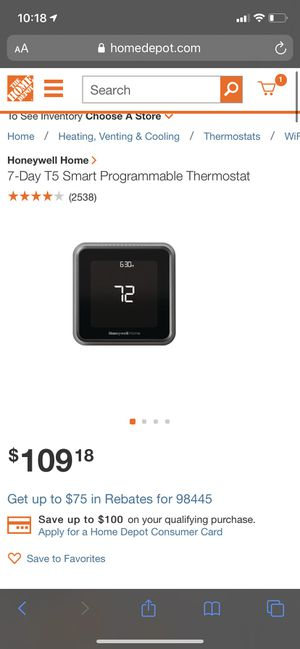 Home Smart thermostat for Sale in Tacoma, WA