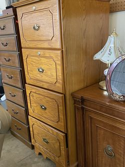 """4 Drawer Oak Finish Filing Cabinet 56""""x22""""x21"""" for Sale in Silver Spring,  MD"""