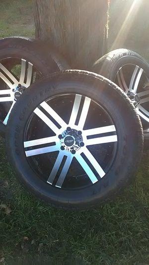 20X9 10 Offset 6x139.7 MB Motoring Vortex Black Wheels for Sale in North Highlands, CA