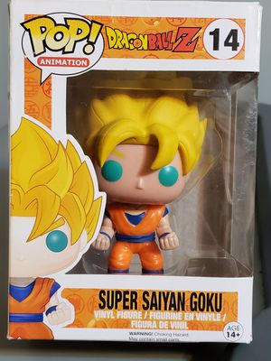 "SUPER SAIYAN GOKU ""DRAGONBALL Z"" Funko POP! Animation #14, see pics for box condition for Sale in Wareham, MA"