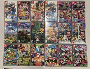 Nintendo switch games - pokemon, smash bro's, Mario kart for Sale in Los Angeles, CA