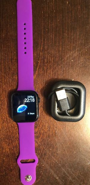 purple iPhone & Android Bluetooth smart watch heart rate, blood pressure, exercise, music, calling, text, social media not a apple watch for Sale in Phoenix, AZ