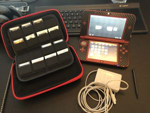 Nintendo 3DS XL Red with 13 games and Case for Sale in Petaluma, CA