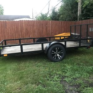 utility trailer with ramp 8x12 Brand New Wheel And Tires for Sale in Bensenville, IL
