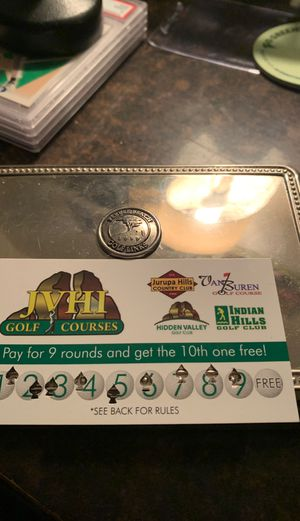 Golf pass Hidden Valley and 3 other courses 1ea for Sale in Riverside, CA