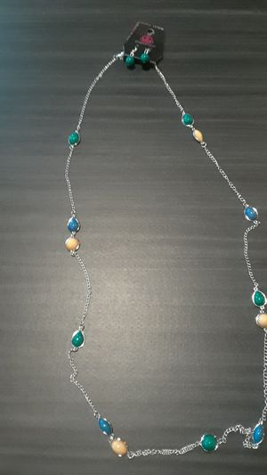 Tan blue&Turquoise Necklace set for Sale in Columbus, OH
