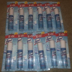 Lysol To go Travel Size Disinfecting Spray, 12 Pack for Sale in Burbank, CA
