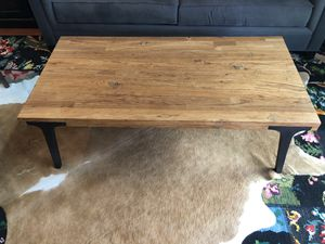 Crate & Barrel Lavin recycled teak coffee table for Sale in Coronado, CA