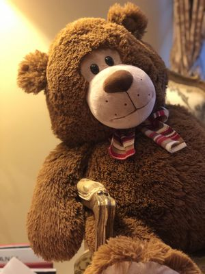 "Dan Dee Teddy Bear 18"" Bow Stuffed Plush for Sale in Chantilly, VA"