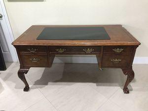 Antique Wood Desk for Sale in Miami, FL