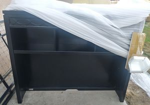 Nice solid wood black hutch for Sale in Fresno, CA