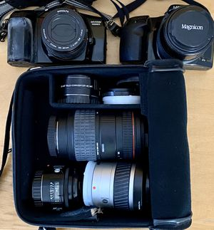 2 Minolta SLRs + Multiple Lenses for Sale in Napa, CA