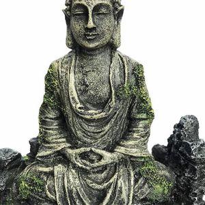 XiR Fish Tank Buddha Sitting Statue Aquarium Decorations Reptiles Tank Ornament for Sale in Las Vegas, NV