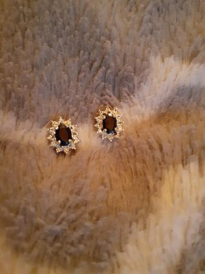 Midnight Sapphire earrings with diamond accents. for Sale in Washington, PA